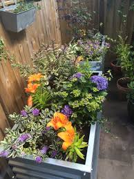 corrugated metal planter metal garden planters