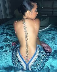 tammy hair line tammy rivera gets a quote about friends and enemies tattooed down