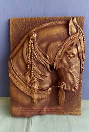 Horse Murals by Horse Hand Carved Relief Mural On Siporex Block Siporex 3d