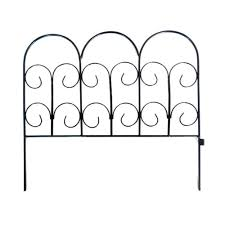 vigoro 18 in black solid steel wire black chelsea wrought iron