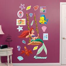 the little mermaid swinging ariel wall decal by fathead disney s the little mermaid swinging ariel wall decal by fathead