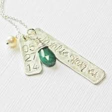 necklace with baby name silver new baby name necklace with birth date and birthstone