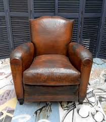 Leather Club Chair 1930s Small French Art Deco Moustache Leather Lounge Club Chairs