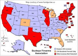 pa carry permit reciprocity map handgunlaw us issues ohio reciprocity map to reflect hb 234