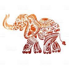 elephant ornamental copper texture stock vector 887974836 istock