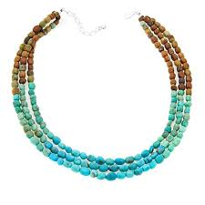 color necklace images Jay king 3 strand tri color turquoise nugget 18 quot sterling silver jpg