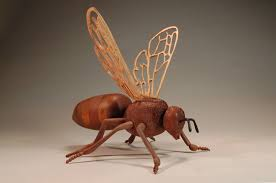 bee teapot wood sculpture by tom raushke woodworks101