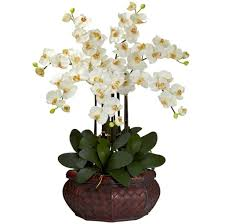 home decoration cute white fake floral arrangements with wicker