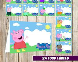 peppa pig labels etsy