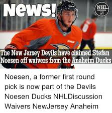 Anaheim Ducks Memes - news nhl discussion the new jersey devils have claimed stefan