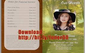 Downloadable Funeral Program Templates Free Funeral Program Template Microsoft Word