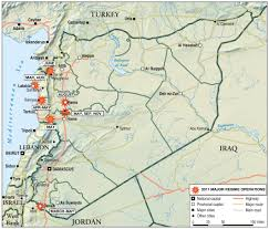 Maps Syria by The Struggle For Syria In 2011 Institute For The Study Of War