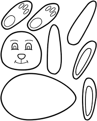 easter bunny ears coloring pages download print free