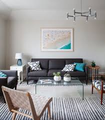 Living Rooms With Area Rugs by Bright Sofa Cushions Look New York Transitional Living Room Image