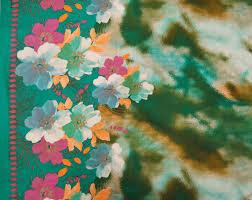 designer fabric floral print dress fabric home decor fabric