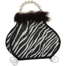 mainstays purse lamp black and white zebra print walmart com