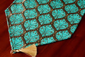 peacock turquoise table runner peacock series turquoise silk cotton healthy