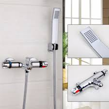 aliexpress com buy yanksmart wall mounted bathroom faucet aliexpress com buy yanksmart wall mounted bathroom faucet polished chrome hot cold water mixer tap shower set rain bathtub faucets from reliable bathtub