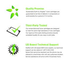 resume paper staples sustainable earth by staples remanufactured black toner cartridge product view