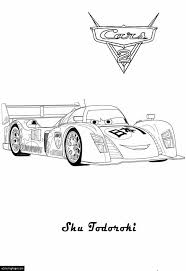 cars 2 shu todoroki race car printable coloring