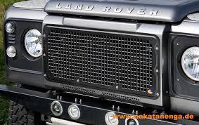 land rover defender black heritage style grille aluminium black nakatanenga 4x4