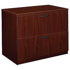 Hon 2 Drawer Lateral File Cabinet Basyx By Hon Laminate 2 Drawer Lateral File 29 H X 35 12 W X 22 D