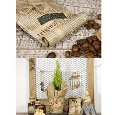 high quality 52x75cm wrapping paper vintage newspaper gift wrap