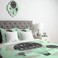 Mint Green Duvet Set Bedroom Attractive Duvet Cover Headboard Tufted Gray Glisten