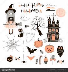 happy halloween design u2014 stock vector olga angelloz 165597974