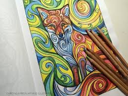 prismacolor watercolor pencils coloring with prismacolor watercolor pencils fox by ch karron