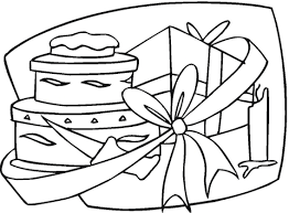 Happy Birthday Gift Coloring Free Printable Coloring Pages