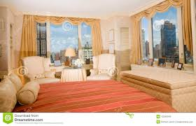master bedroom suite penthouse new york royalty free stock images