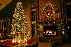 living room green tree christmas with present decoration ideas