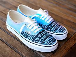 blue patterned shoes custom hand painted pastel color tribal pattern vans authentic shoes