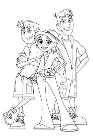 kratts coloring pages