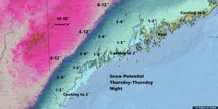 Snow Depth Map New England by Heavy Snow Heading For Maine U0027s Ski Areas Much Less Expected For