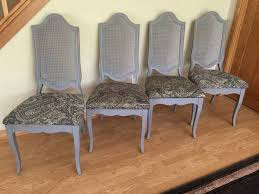 Refurbished Chairs Newly Refurbished Provincial Dining Set Table 4 Chairs