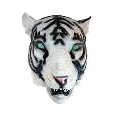 halloween party character animal mask white tiger design