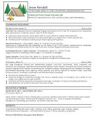 useful resume for summer camp counselor for best camp counselor