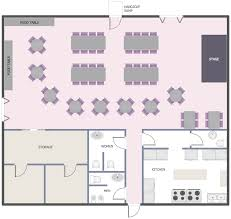 floor plan examples cafe and restaurant floor plan solution conceptdrawcom small