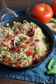 tomato bacon capellini chocolate with grace