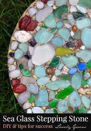 Garden Diy Crafts - how to make sea glass stepping stones landscapes u0026 gardens