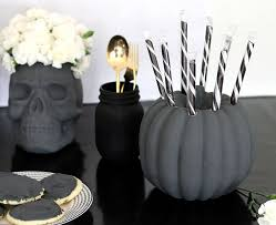Black And White Vases Diy Skull Vase And Halloween Party Decor Persia Lou