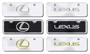 Front Vanity Plates Lexus Half Size License Plates Vanity Logo Tags Lexus