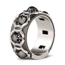skull wedding ring sets wedding bands wedding rings