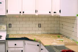 how to install backsplash tile in kitchen kitchen makeover diy kitchen backsplash subway tile ruby redesign