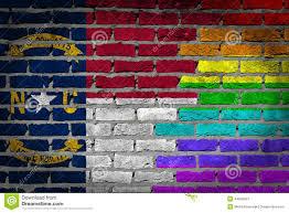 North Carolina Flag Dark Brick Wall Lgbt Rights North Carolina Stock Image Image