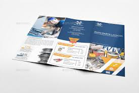 2 fold brochure template auto parts catalog tri fold brochure template vol 2 by owpictures