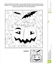 dot to dot and coloring page halloween pumpkin stock photos
