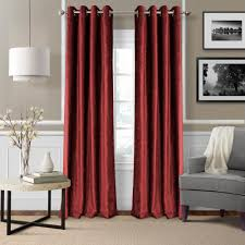 blackout victoria red blackout grommet window curtain panel 52 in w x 95 in